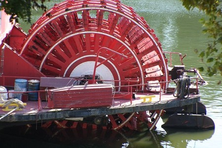 The Delta Queen's paddle wheel
