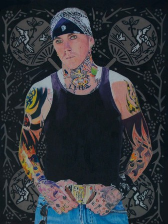 "In ""King of Spades"" (17 X 23, 2008), Lewis's most recent work embodies her aesthetics and ideals as an artist that anyone can have their portrait done, and shows her flare for detail while capturing the innermost essence of her subject, a trait she shares with regional portrait artist Billy Price Carroll. Featured here is Ryle."