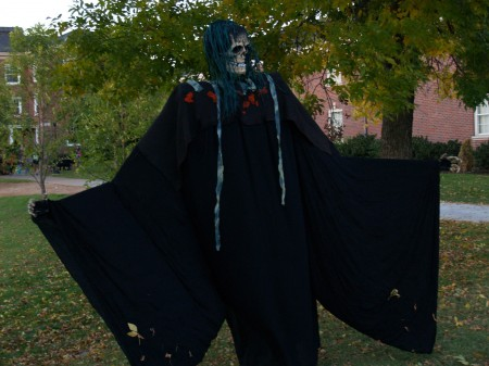 A ghastly, undead creature haunts one of APSU's 'bowls', demonstrating the mechanical and creative ingenuity of APSU students.