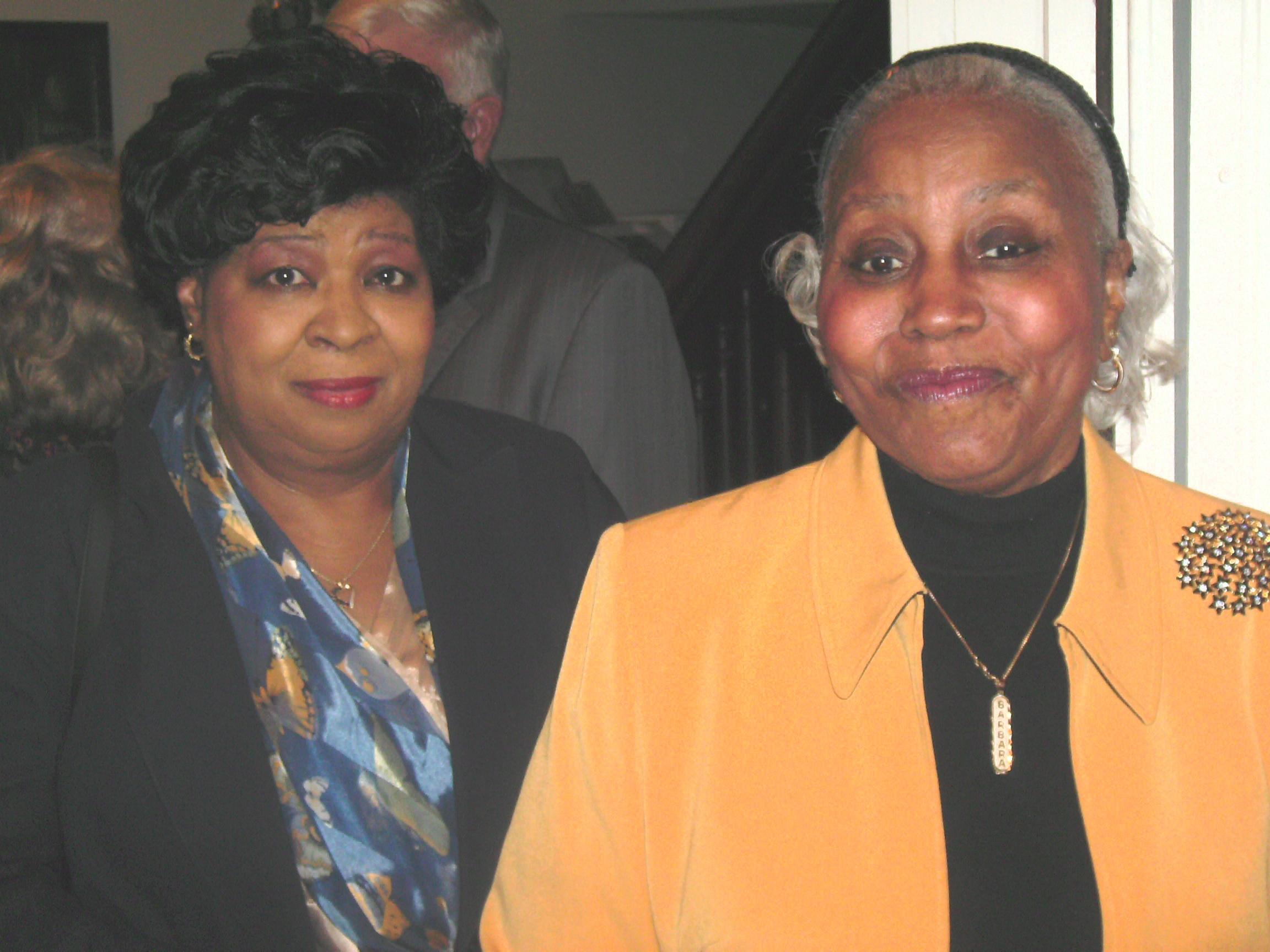 Mayor Pro Tem Barbara Johnson and Mrs. Emma Canard