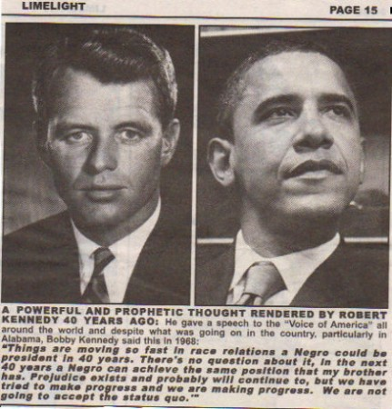Bobby Kennedy's Prediction
