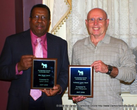 Gene Lewis and John Ferguson with their awards