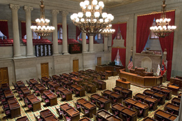 Tennessee State House of Representatives Chamber