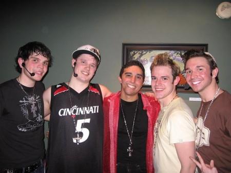 Altar Boyz: Matthew (Dan Gershaw), Luke (Joel Halstead), Juan (Jonathan Juarbe), Mark (Bryan Zoppi) and Abraham (Chad Parsons)