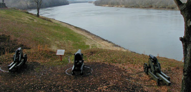 Fort Donelson Battery facing Up River