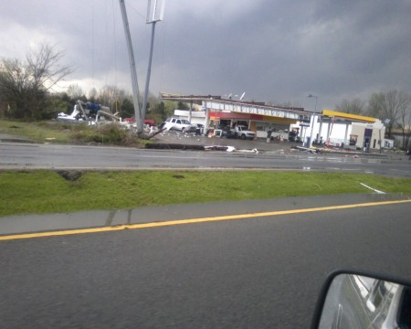 A Murfreesboro Gas station suffered significant damage (Chris Jackson)