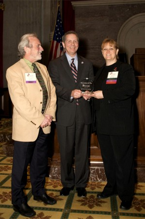 APSU Prof. Mr. Glenn Carter(Left), State Rep. Joe Pitts (Center) and Paula Foster, Pres. NASW, Tennessee Chapter (Right)