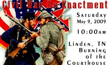 Linden TN Re-enactment Poster 2009
