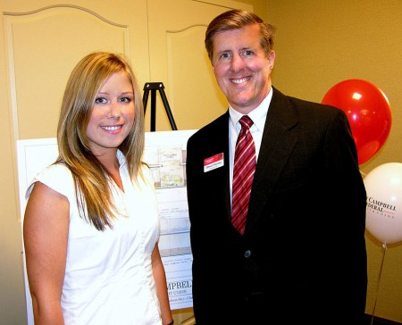 Natalija Vnukovica with Stewart Ramsey, President and C.E.O. of Fort Campbell Federal Credit Union