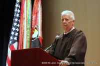 US District Court Magistrate W. David King presides over naturalization ceremony