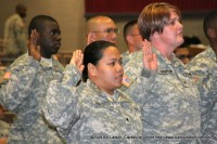 Swearing the Oath of Allegiance, becoming a US citizen