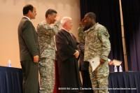 Citizen-soldiers exchange salutes
