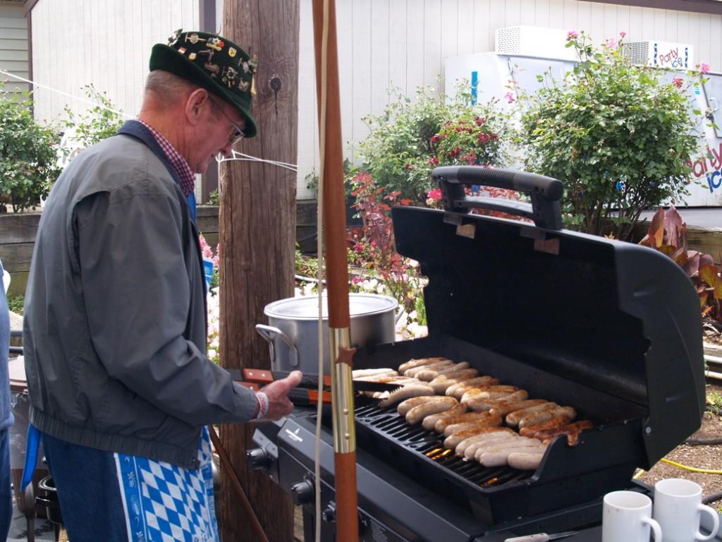 German Bratwurst at the International, naturlich!