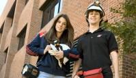 Morgan Kurz and Seth McCormick are the Bat Project students