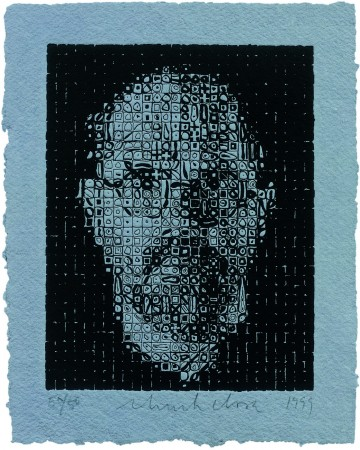 Chuck Close, Self Portrait I, 1999, Two Palms Press, New York, printer and publisher (Pedro Barbeito, David  Lasry).  Courtesy of Two Palms Press and the artist