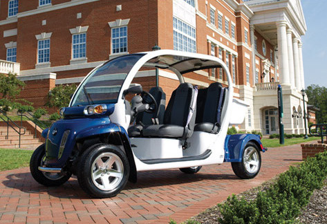 A four seat Global Electric Motor Car