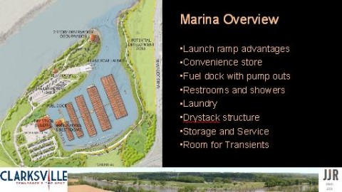 The proposed marina