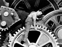 Charlie Chaplin in the 1936 movie Modern Times