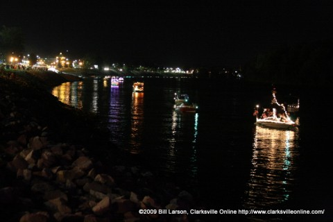 The Lighted Boat Parade at the 2009 Riverfest