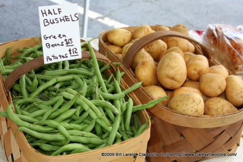 Fresh Vegatables at the City of Clarksville's Downtown Market