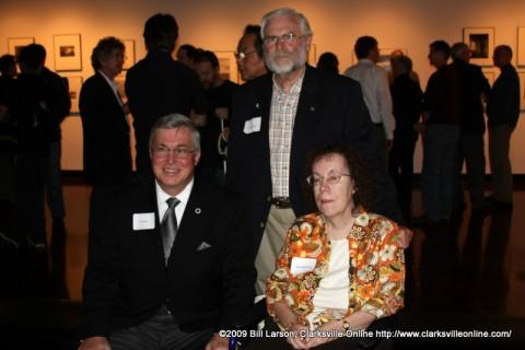 APSU President Tim Hall with Jim and Nan Robertson