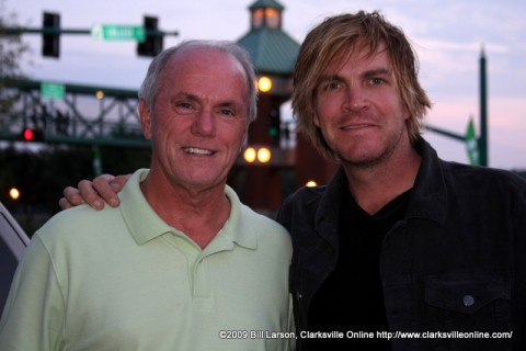 Clarksville Mayor Johnny Piper with Country Singer Jack Ingram