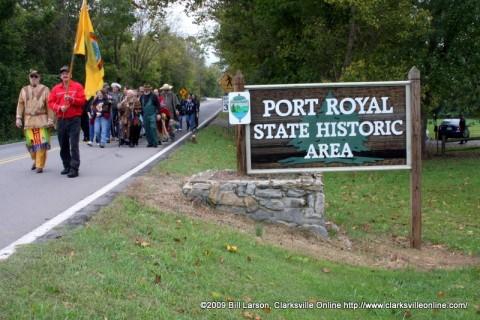 The third annual Trail of Tears Memorial Walk