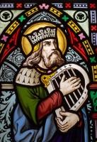 King David with his harp