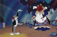 Bugs Bunny, imitating the conductor Leopold Stokowski in concert