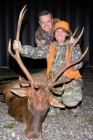Tami Miller of Franklin closed out the historic elk hunt by taking her trophy late Tuesday afternoon at North Cumberland WMA. Pictured with Tami is her husband, Andy.