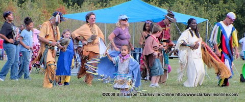 One of the many traditional dances from the 2008 NCC Intertribal Powwow