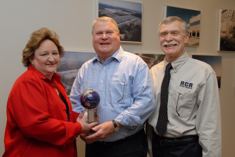 Clarksville Resident Peggy Harrison Elliott (office manager / operations director); Pat Riley (CEO); and Jay Hill (general superintendent / operations director).