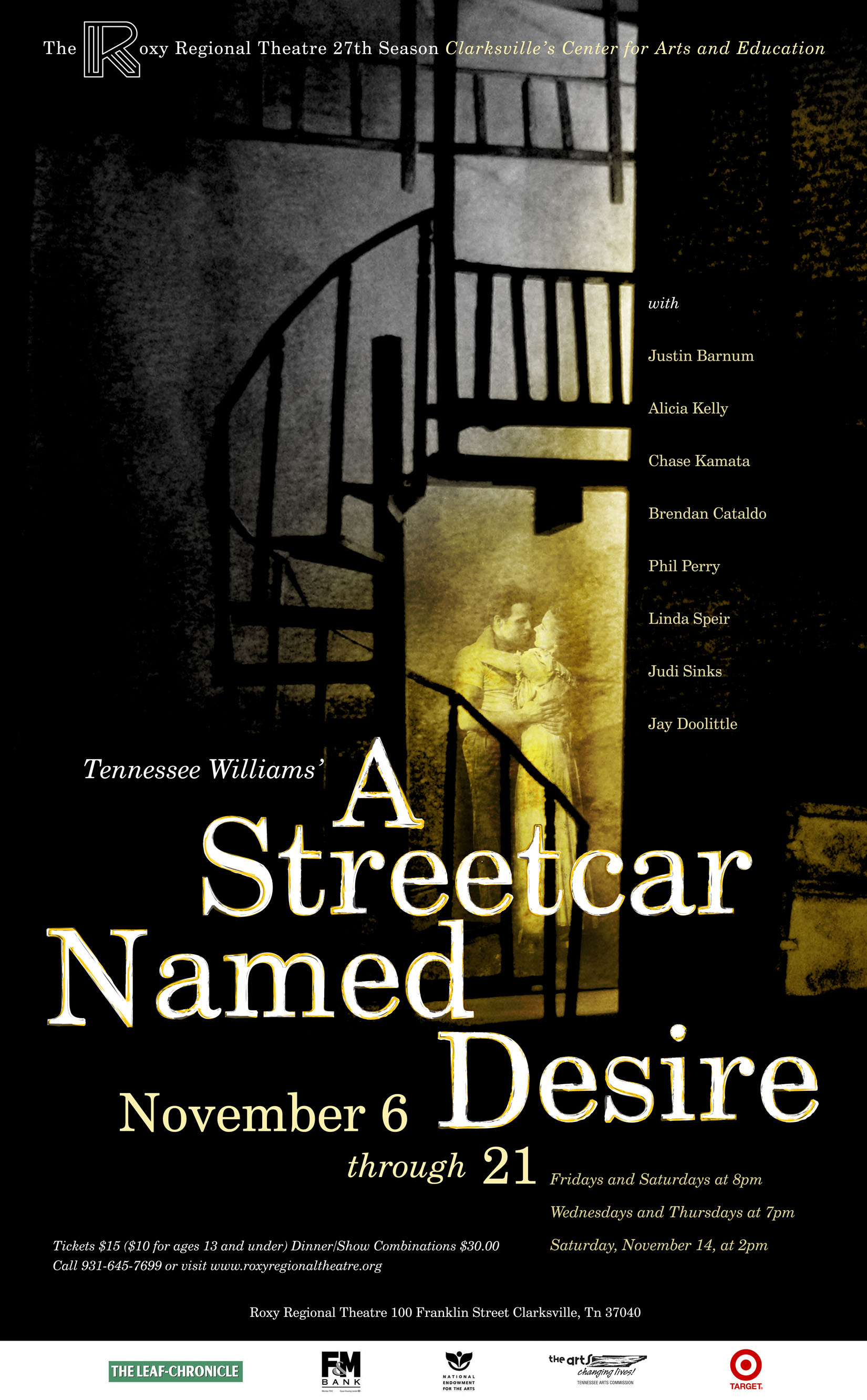 the relevance of setting in a streetcar named desire a play by tennessee williams Time and setting of tennessee williams's original work, in a production driven by the sheer variety of the musical and dance motifs, and the unique personalities of the characters the story of the fall of blanche dubois is a drama of family bonds, unrequited love, acceptance and physical force that never loses its relevance.