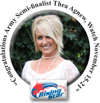 Thea Agnew was selected to represent Fort Campbell in the 2009 Operation Rising Star Competition