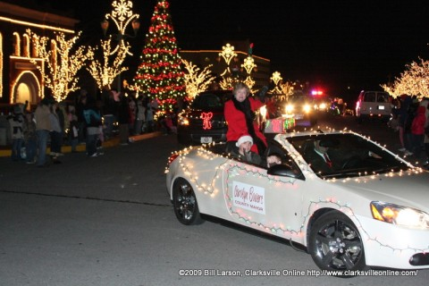 Montgomery County Mayor Carolyn Bowers rides in the 50th annual Clarksville Jaycees Christmas Parade