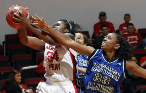 Senior Nicole Jamen grabbed a career-high 17 rebounds in Austin Peay's victory against Eastern Illinois, Saturday. (Austin Peay Sports Information)