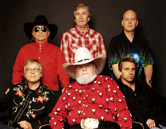 The Charlie Daniels Band - Front Row: Bruce Brown, Charlie Daniels, Chris Wormer Back Row: Taz DiGregorio, Charlie Hayward, Pat McDonald