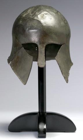 Corinthian Helmet, ca. 700–500 BCE. Bronze, 9 5/8 x 8 1/4 x 10 1/8 in. The Walters Art Museum, Baltimore  54.2304