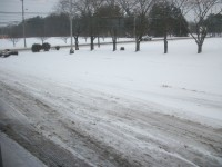 Snow and ice on the roads.