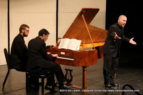 Dr. Gerald Thomas Gray singing as David Breitman plays the Fortepiano