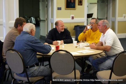 Clarksville Mayor Johnny Piper at the Kiwanis Club John D. Maddox Sr. Memorial Pancake Breakfast