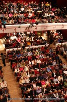 Every seat was filled in the 572 seat auditorium