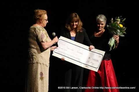 The Presentation of the $2,000 scholarship check to Jennifer Jordan