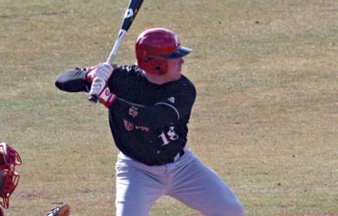 Catcher Trey Lucas was one of two players with three RBI in the Govs opening day victory against Illinois State, Friday. (Austin Peay Sports Information)