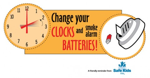 Change your Clocks and Smoke Alarm Batteries
