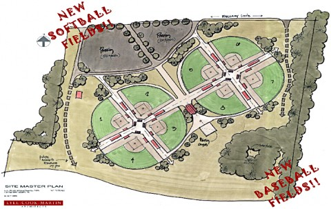 The new St. Bethlehem Civitan Park Ballfield Complex