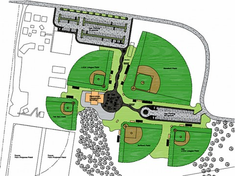 The new Woodlawn Park Ballfield Complex