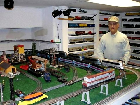 C. David Elliott surveys the world of trains as he prepares for TrainFest 2010. (Joe Filippo)