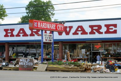 Hardware City on Riverside Drive posted a sign soliciting Volunteer assistance from passing motorists