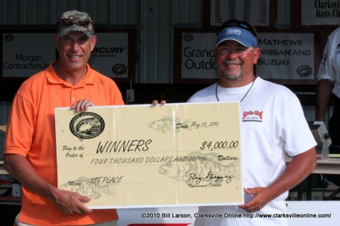 Sam Lashlee and Jeff Davis won the 16th Governors Bass Tournament last year at Paris Landing State Park.